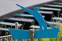 Europe/France/Pays de la Loire/44/Loire-Atlantique/Parc Naturel Régional de Brière/Saint-Lyphard: Port de Bréca - Enseigne pour les excursions touristiques, promenade en cahland briéron