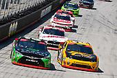 #20: Christopher Bell, Joe Gibbs Racing, Toyota Camry GameStop Seagate and #21: Daniel Hemric, Richard Childress Racing, Chevrolet Camaro South Point Hotel & Casino