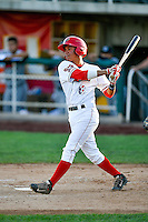 Franklin Torres (6) of the Orem Owlz at bat against the Billings Mustangs in Pioneer League action at Home of the Owlz on July 25, 2016 in Orem, Utah. Orem defeated Billings 6-5. (Stephen Smith/Four Seam Images)