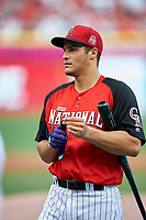 Colorado Rockies Nolan Arenado during practice before the MLB All-Star Game on July 14, 2015 at Great American Ball Park in Cincinnati, Ohio.  (Mike Janes/Four Seam Images)