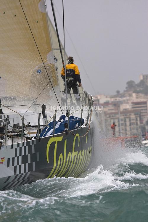 Telefónica Black VOLVO OCEAN RACE 2008-2009 start in Alicante, Spain, 11/10/2008