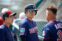 Minnesota Twins first baseman Byung Ho Park (52) during a Spring Training practice on March 1, 2016 at Hammond Stadium in Fort Myers, Florida.  (Mike Janes/Four Seam Images)