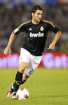 SANTANDER - SEPTEMBER 21:  Gonzalo Higuain of Real Madrid runs with the ball during the La Liga soccer match between Real Racing Club and Real Madrid at El Sardinero Stadium on September 21, 2011 in Santander, Spain. Photo by Victor Fraile / The Power of Sport Images