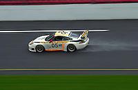 The #05 Porsche on the banking..39th Rolex 24 at Daytona, 3/4 February,2001 Daytona International Speedway  Daytona Beach,Florida,USA.©F.Peirce Williams 2001 ..