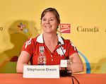 Stephanie Dixon, Toronto 2015.<br /> Highlights from Canada's Closing Ceremonies flag bearer annoucement // Faits saillants de l'annonce du porte-drapeau des cérémonies de clôture du Canada. 15/08/2015.