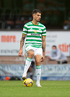 22nd August 2020; Tannadice Park, Dundee, Scotland; Scottish Premiership Football, Dundee United versus Celtic; Nir Bitton of Celtic steps on the ball to look for options