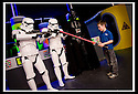 03/05/2009  Copyright  Pic : James Stewart.36_the_buzz.**** FREE FIRST USE WHEN USED IN RELATION TO  OPENING OF THE BUZZ ****.THE UK'S LARGEST SOFT PLAY AND LASER QUEST ARENA OPENS IN FALKIRK...... .GRANT MCLAUGHLAN (6) KEEPS DARTH VADER AND THE STORM TROOPERS AT BAY.....For more information contact Jonathan Kennedy or Alison Jack at Wave PR on 0141 303 8390 / 07803 137262..James Stewart Photography 19 Carronlea Drive, Falkirk. FK2 8DN      Vat Reg No. 607 6932 25.Telephone      : +44 (0)1324 570291 .Mobile              : +44 (0)7721 416997.E-mail  :  jim@jspa.co.uk.If you require further information then contact Jim Stewart on any of the numbers above.........