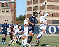 Ben Slingerland #23 of Georgetwn University heads away from Dylan Renna #9 of Villanova University during a Big East match at North Kehoe Field, Georgetown University on October16 2010 in Washington D.C. Georgetown won 3-1.