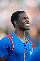 South Bend Cubs Chris Singleton (3) before a game against the Kane County Cougars on July 21, 2018 at Northwestern Medicine Field in Geneva, Illinois.  South Bend defeated Kane County 4-2.  (Mike Janes/Four Seam Images)
