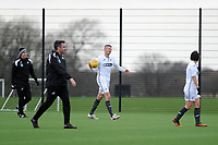 Pictured: Owain Tudur Jones. Wednesday 13 December 2018<br /> Re: Coaching staff v Members of the press game at the Fairwood Training Ground, Wales, UK.