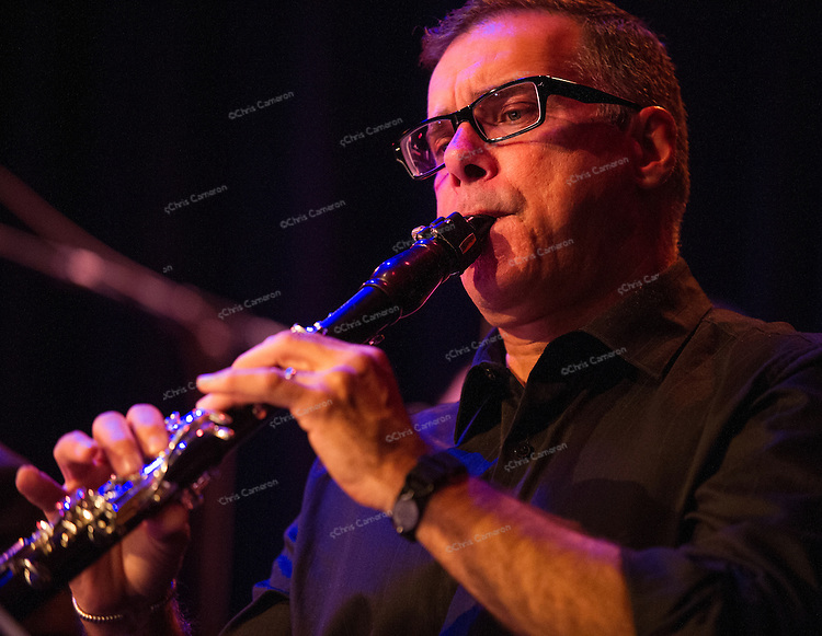 François Houle solos in Darcy James Argue's world premiere of Tensile Curves at Performance Works on June 20, 2014 TD Vancouver International Jazz Festival