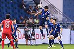 Endo Wataru of Japan (C) in action during the AFC Asian Cup UAE 2019 Quarter Finals match between Vietnam (VIE) and Japan (JPN) at Al Maktoum Stadium on 24 January 2018 in Dubai, United Arab Emirates. Photo by Marcio Rodrigo Machado / Power Sport Images