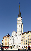 Michaeler Kirche= St. Michael am Michaeler Platz, Wien, Österreich, UNESCO-Weltkulturerbe<br /> St. Michael, Vienna, Austria, world heritage