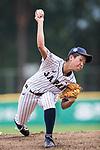 #3 Ono Ayumi of Japan serves during the BFA Women's Baseball Asian Cup match between Japan and Hong Kong at Sai Tso Wan Recreation Ground on September 5, 2017 in Hong Kong. Photo by Marcio Rodrigo Machado / Power Sport Images