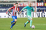 Atletico de Madrid's midfielder Saul Iniguez (L)  and FC Barcelona's defender Javier Mascherano (R) competes for the ball with  during the match of Copa del Rey between Atletico de  Madrid and Futbol Club Barcelona at Vicente Calderon Stadium in Madrid, Spain. February 1st 2017. (ALTERPHOTOS/Rodrigo Jimenez)