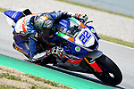 WorldSBK supported test SSP600 day 2 at Circuit de Barcelona-Catalunya, picture show F. Fuligni (ITA) riding Yamaha YZF R6 from VFT Racing