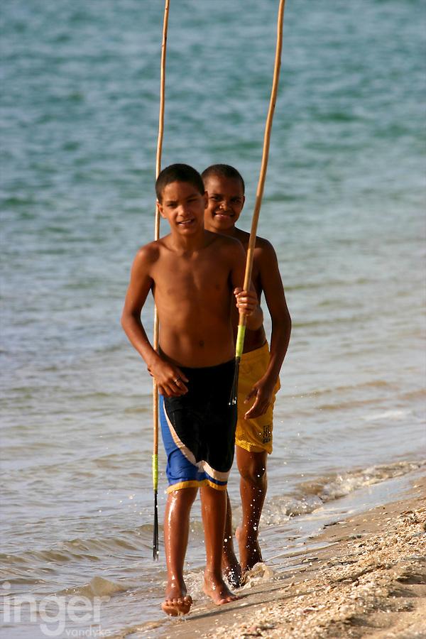 Children Spearfishing in Janie Creek, Mapoon, Cape York Peninsula