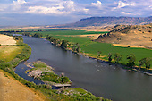 Irrigated fields along Yellowstone River