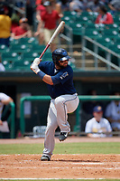 Mobile BayBears Julian Leon (20) at bat during a Southern League game against the Montgomery Biscuits on May 2, 2019 at Riverwalk Stadium in Montgomery, Alabama.  Mobile defeated Montgomery 3-1.  (Mike Janes/Four Seam Images)