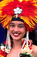 Dancer in Tahiti, French Polynesia, South Pacific Rim