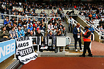 Newcastle fans prepare for their first game in St James Park since March 2020. Newcastle v West Ham, August 15th 2021. The first game of the season, and the first time fans were allowed into St James Park since the Coronavirus pandemic. 50,673 people watched West Ham come from behind twice to secure a 2-4 win.