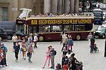 Tourist bus  Trafalgar Square London Uk 2013, 2010s