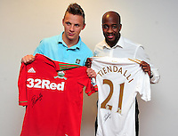 Swansea city fc sponsor awards... saturday 19th may 2013...<br /> <br /> Dwight Tiendalli.