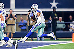 Dallas Cowboys running back Darius Jackson (34) in action during the pre-season game between the Houston Texans and the Dallas Cowboys at the AT & T stadium in Arlington, Texas.