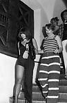 STEFANIA SANDRELLI<br /> FESTA PER I 30 ANNI DI HELMUT BERGER JACKIE O' ROMA 1974