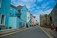 General view of South Beach Tenby, Pembrokeshire, Wales, UK
