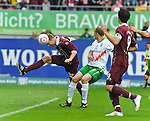 14.05.2011, Fritz-Walter Stadion, Kaiserslautern, GER, 1. FBL, 1.FC Kaiserslautern vs Werder Bremen, im Bild Adam NEMEC (Kaiserslautern #32 SVK) mit dem 1:0 gegen Petri Pasanen ( Werder #03 ), Foto © nph / Roth