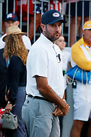 5th September 2021; Toledo, Ohio, USA;  Bubba Watson watches at the first tee during the morning Four-Ball competition during the Solheim Cup on September 5th