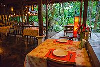 Thailand, Mae Hong Son. Fern Resort. Restaurant.