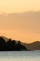 Sunset at Windswept from Cinnamon Beach.St John, US Virgin Islands