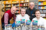 DavId Elton and Donnacha Clifford pictured at the launch of their book 'Cycling Kerry' with Con Collins (Collin's Press) and Tom Daly, whoo launched the book at O'Mahony's Book Shop on Friday evening last.