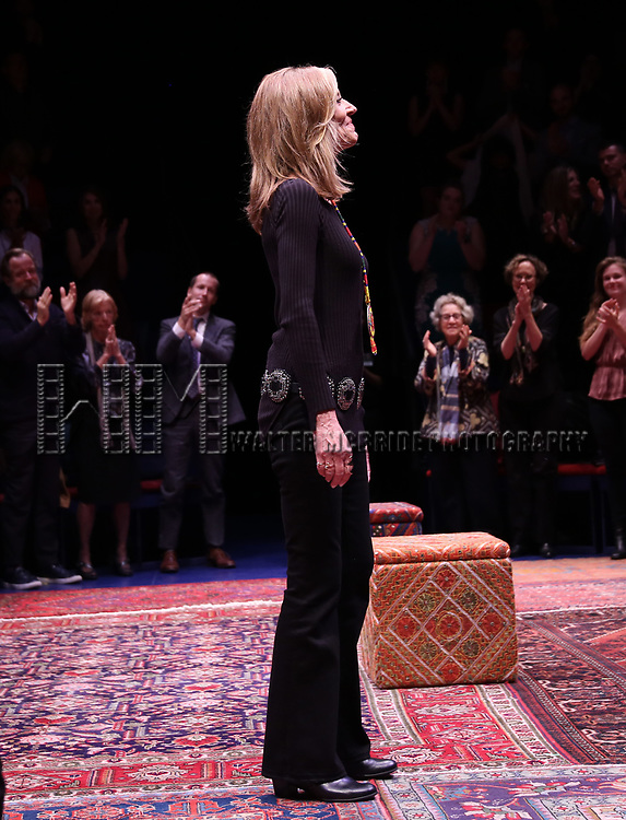 "Christine Lahti during the Opening Night Performance bows for ""Gloria: A Life"" on October 18, 2018 at the Daryl Roth Theatre in New York City."