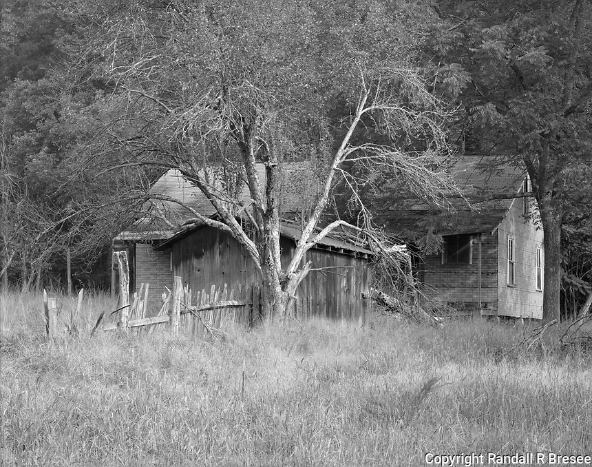 """""""Oscar Blevins Farmstead House""""<br /> Big South Fork National River & Recreation Area, Tennessee<br /> <br /> This photograph shows a farmhouse built on the Oscar Blevins farmstead in the 1950's. The farmstead is located at the Big South Fork National River and Recreation Area in Tennessee."""