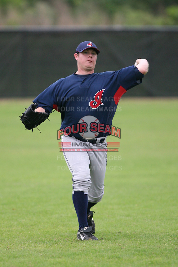 March 20th 2008:  Brandon Taylor of the Cleveland Indians minor league system during Spring Training at Chain of Lakes Training Complex in Winter Haven, FL.  Photo by:  Mike Janes/Four Seam Images