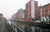 Milano, Naviglio Grande --- Milan, Naviglio Grande channel