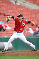 August 29 2008:  Pitcher David Huff of the Buffalo Bisons, Class-AAA affiliate of the Cleveland Indians, during a game at Dunn Tire Park in Buffalo, NY.  Photo by:  Mike Janes/Four Seam Images