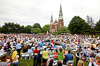 Photography coverage of the 2011 Belmont Abbey College graduation on the Belmont Abbey Campus, May 14, 2010...Photo Graphy by: PatrickSchneiderPhoto.com