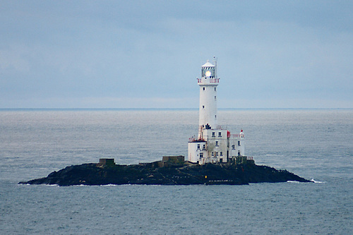 If the wind is as predicted, the need to get the tide right comes into sharper focus as the yachts head down the Irish Sea to the first turning mark, the Tuskar Rock lighthouse (above), which guards the southeast corner of Ireland