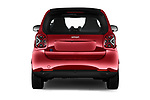 Straight rear view of 2020 Smart EQ-fortwo Comfort-Plus 3 Door Hatchback Rear View  stock images