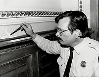 1984 FILE PHOTO - ARCHIVES -<br /> <br /> crime scene, National Assemby; Denis Lortie shooting<br /> <br /> 1984<br /> <br /> PHOTO : Boris Spremo - Toronto Star Archives - AQP