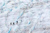 Climbers on Exit Glacier, Kenai Fjords National Park, Alaska.