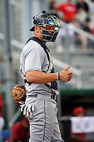 Pittsburgh Panthers catcher Kevan Smith (12) during game against St.John's Red Storm at Jack Kaiser Stadium in Queens, New York;  May 7, 2011.  St. John's defeated Pittsburgh 7-0.  Photo By Tomasso DeRosa/Four Seam Images