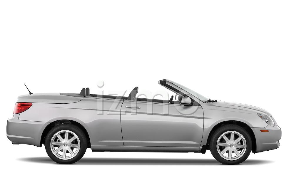 Passenger side profile view of a 2008 Chrysler Sebring Convertible.