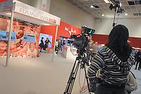 - Torino, Fiera del Libro, stand di RAI News....- Turin, Book Fair, RAI News stand