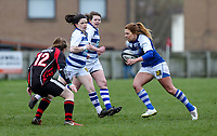 Sunday 7 April 2019 | Carrick W vs Dungannon W<br /> <br /> Ruth Gallagher during the Rejenerate Cup Final between Carrick and Dungannon at Super Sunday Finals Day at Tom Simms Memorial Park, Carrickfergus RFC, County Antrim, Northern Ireland . Photo by John Dickson / DICKSONDIGITAL