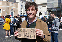 Giuseppe Civati attends the FridayForFutureRoma protest to demand action on climate change in Rome, April 19, 2019.<br /> UPDATE IMAGES PRESS/Riccardo De Luca